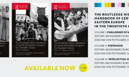 """Lansare online de carte/ 14 septembrie – """"Routledge History Handbook of Central and Eastern Europe in the Twentieth Century"""" (vol. I)"""